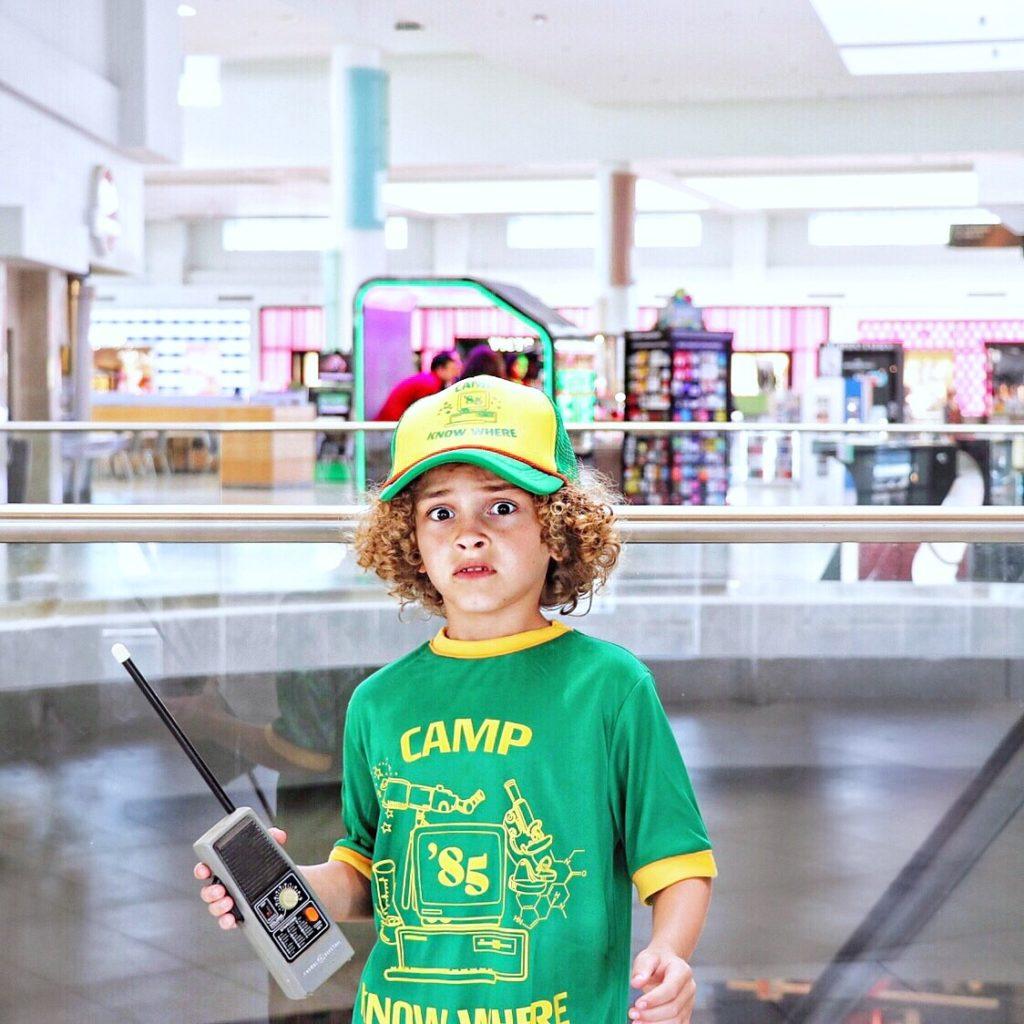 DIY Stranger Things Dustin kid's Halloween costume
