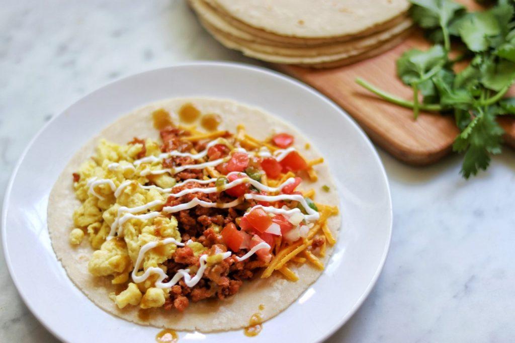 how to make vegan breakfast tacos recipe