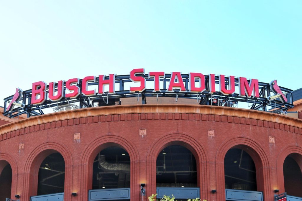 baseball stadium road trip: cardinals busch stadium in st. louis, mo