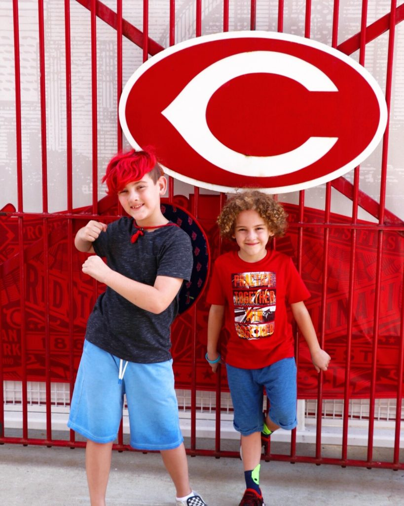 ultimate family baseball road trip through the midwest: cincinnati reds game at great american ball park