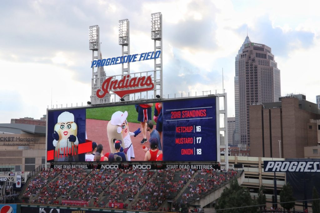 baseball stadium road trip: indians progressive field in cleveland, oh