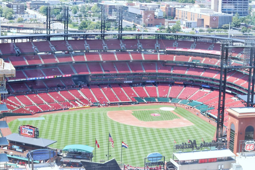 ultimate baseball road trip through the midwest: st. louis cardinals game at busch stadium