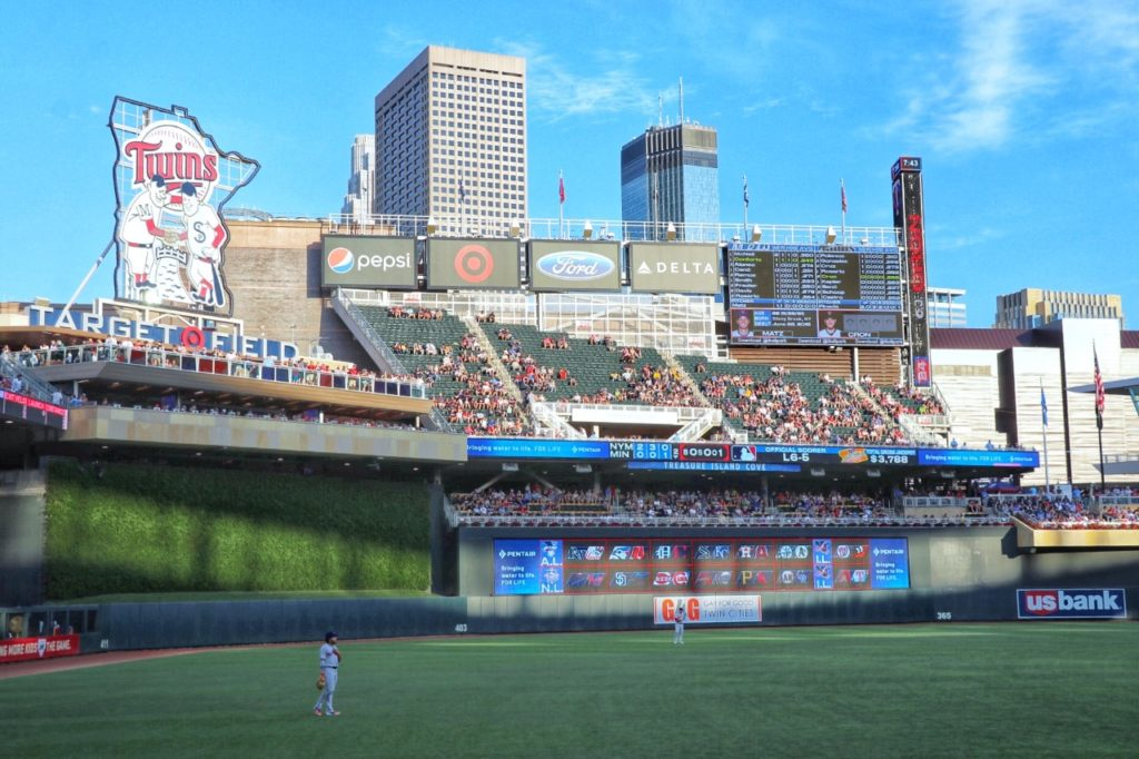 baseball stadium road trip: minnesota twins target field in minneapolis, mn