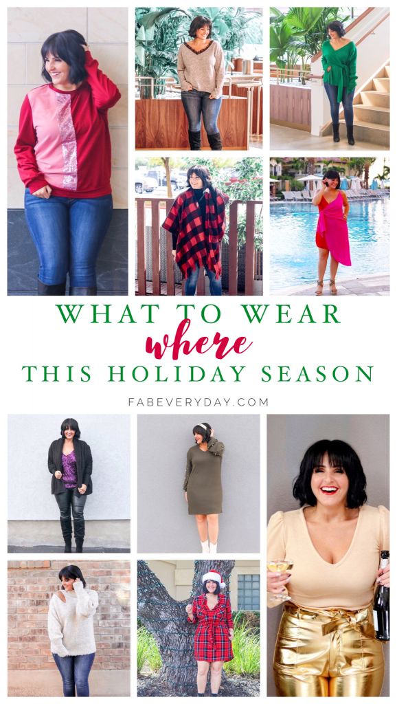 What to Wear, Where this Holiday Season (holiday fashion outfit guide 2019 - including fall/winter fashion trends for 2019/2020)
