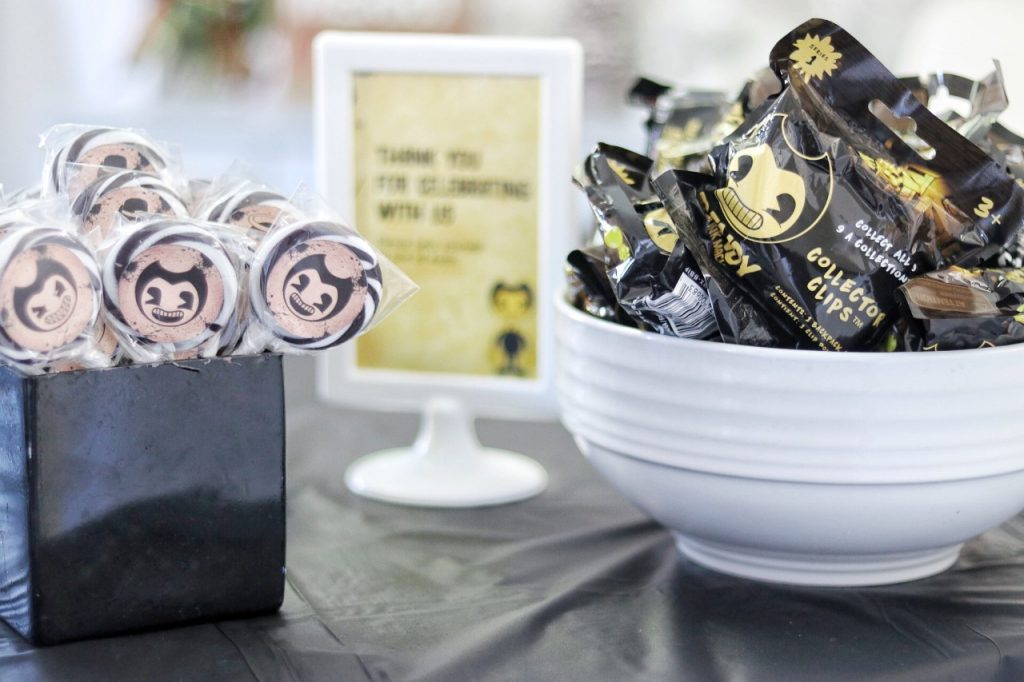 bendy and the ink machine birthday party favors