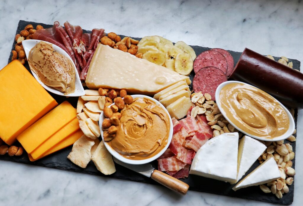 charcuterie board pairing idea - how to put together a peanut butter charcuterie board