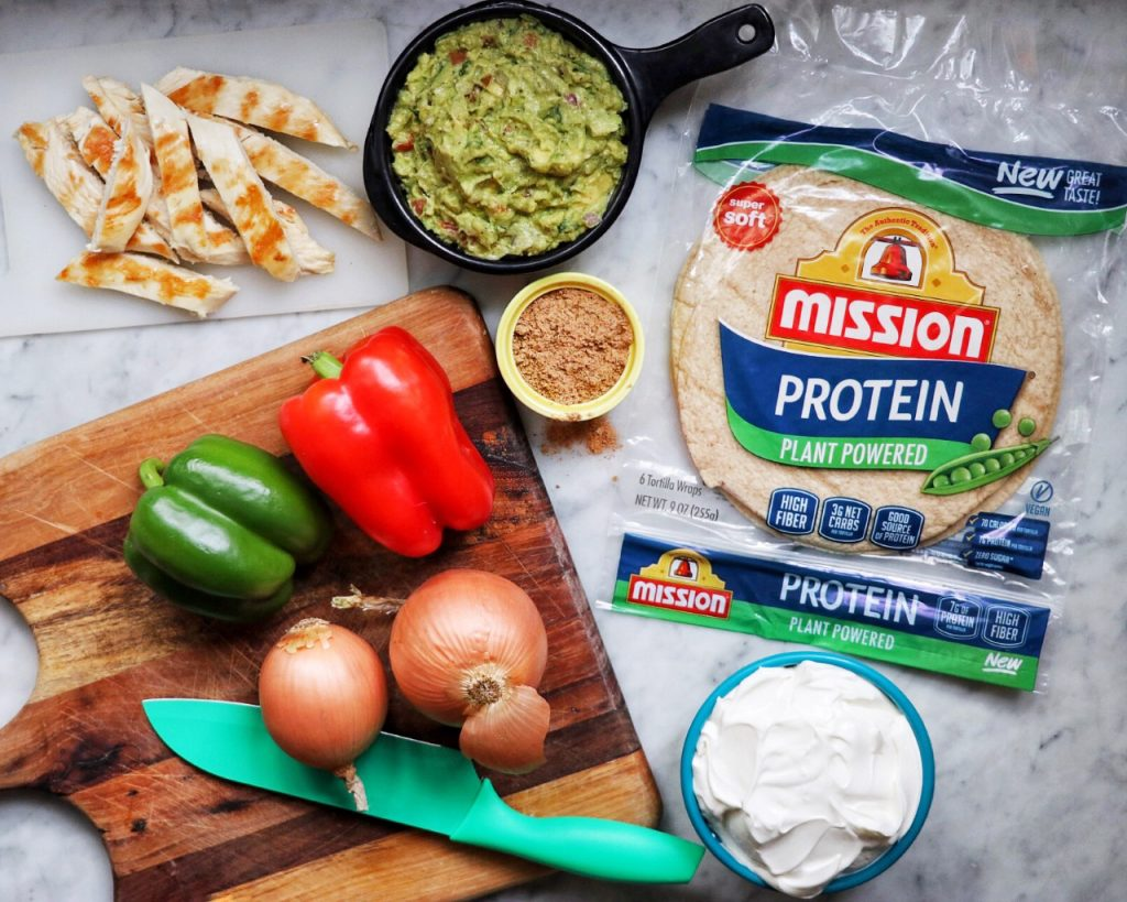 Chicken Fajita Protein Wraps recipe
