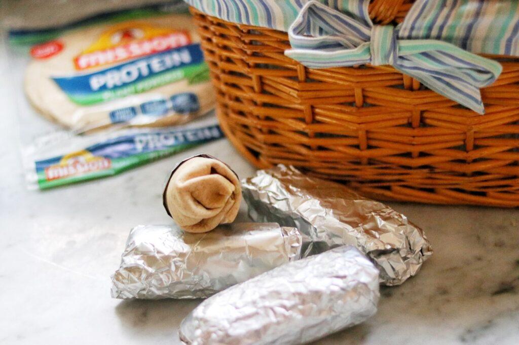 delicious picnic recipe: chicken fajita protein wraps