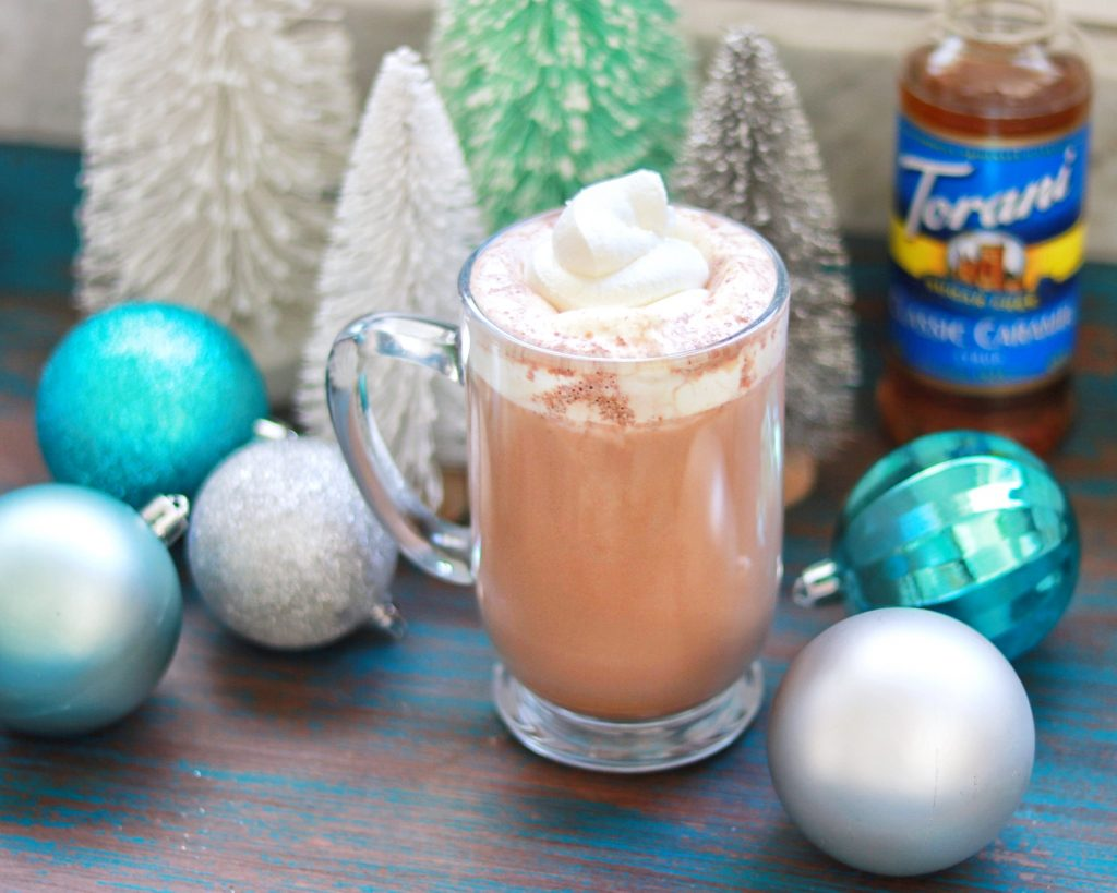 low carb drink recipe: Sugar-Free Salted Caramel Hot Chocolate (keto-friendly)