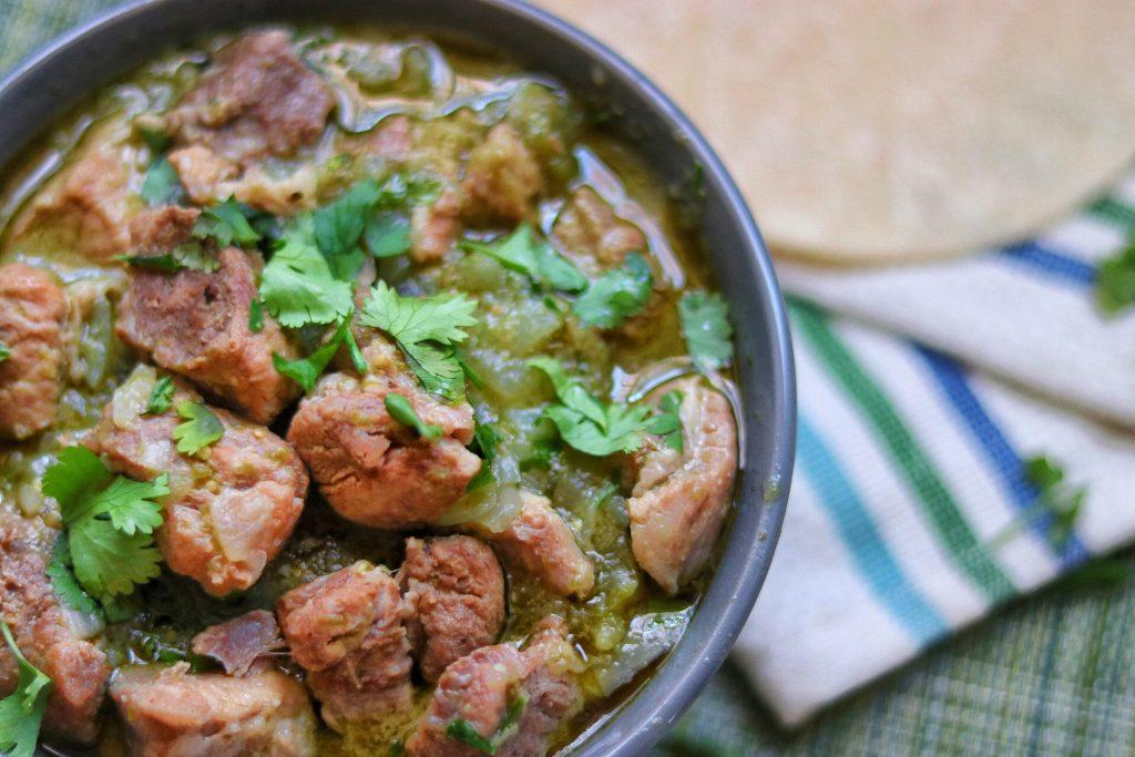Instant Pot Chile Verde (green chile pork stew) recipe
