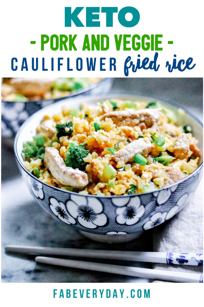 Keto Pork and Veggie Cauliflower Fried Rice recipe