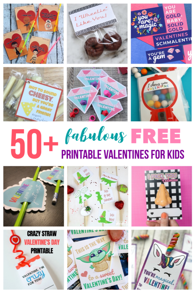 50+ fabulous free printable Valentines for kids