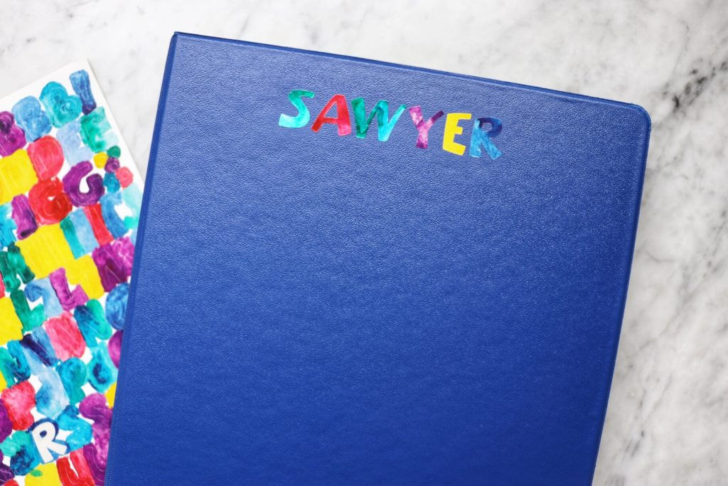 how to make a kid's road trip activity folder