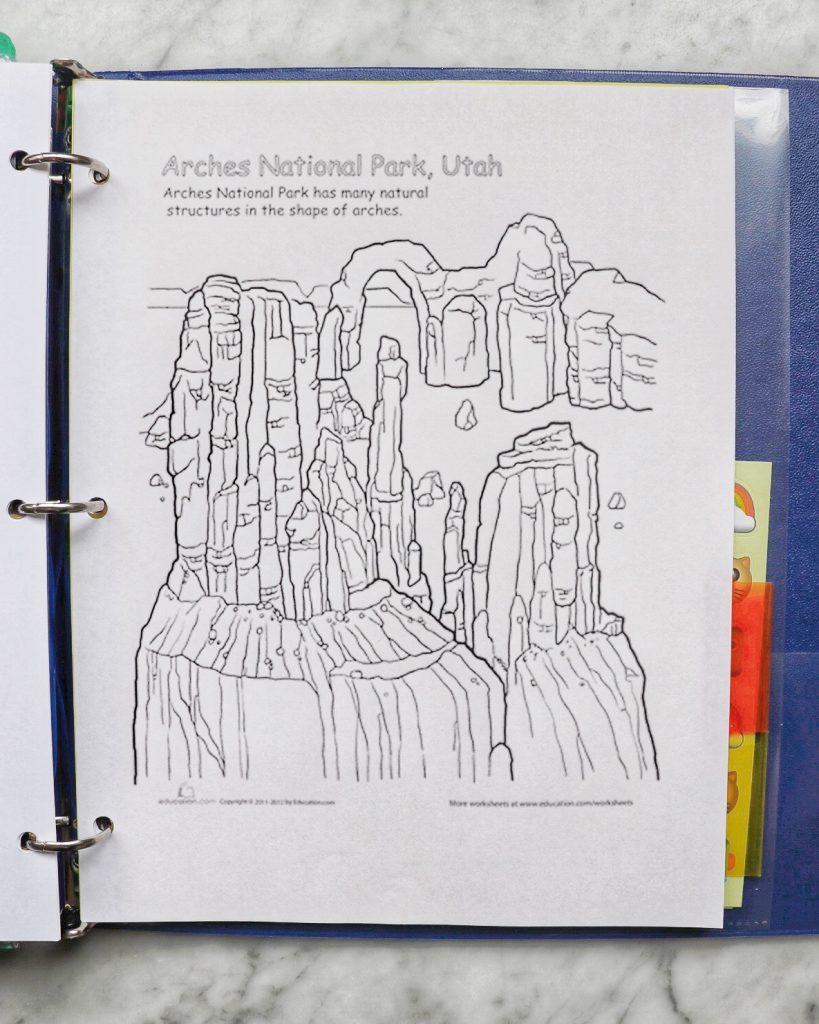 free road trip printables for a diy kid's car ride activity folder