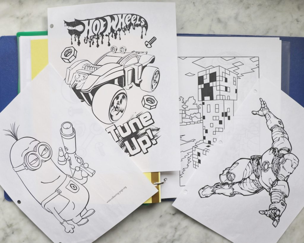 printable coloring pages for a diy road trip activities folder