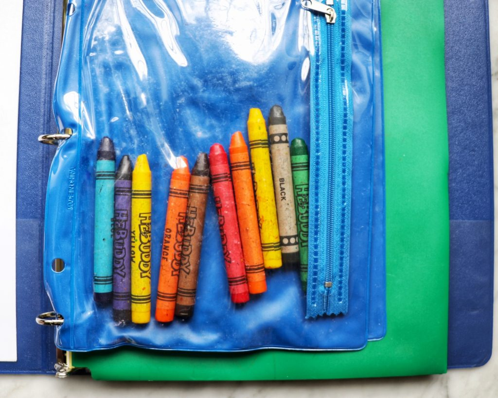 DIY road trip activities folder for toddlers