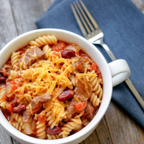 Instant Pot Hearty Beef and Bean Pasta recipe