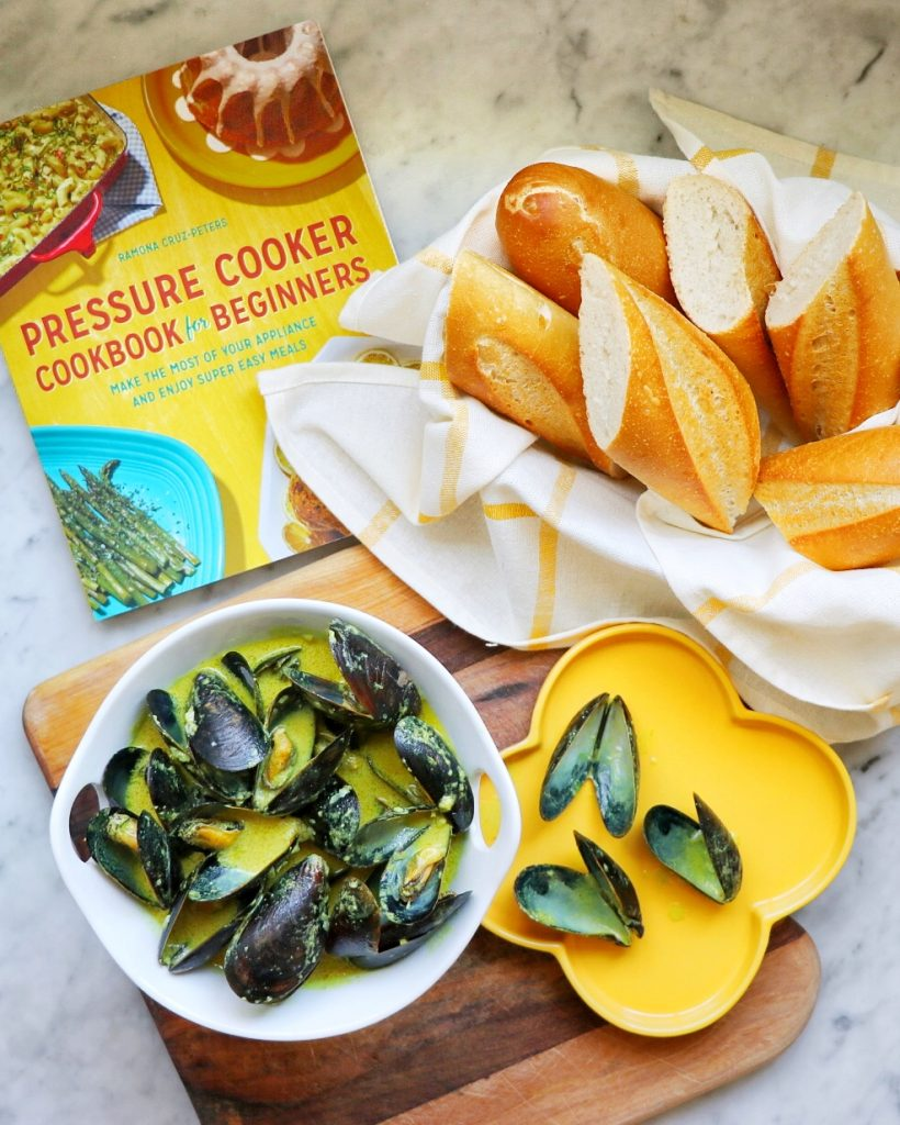 Instant Pot Mussels in Coconut Curry Sauce from Pressure Cooker Cookbook for Beginners by Ramona Cruz-Peters