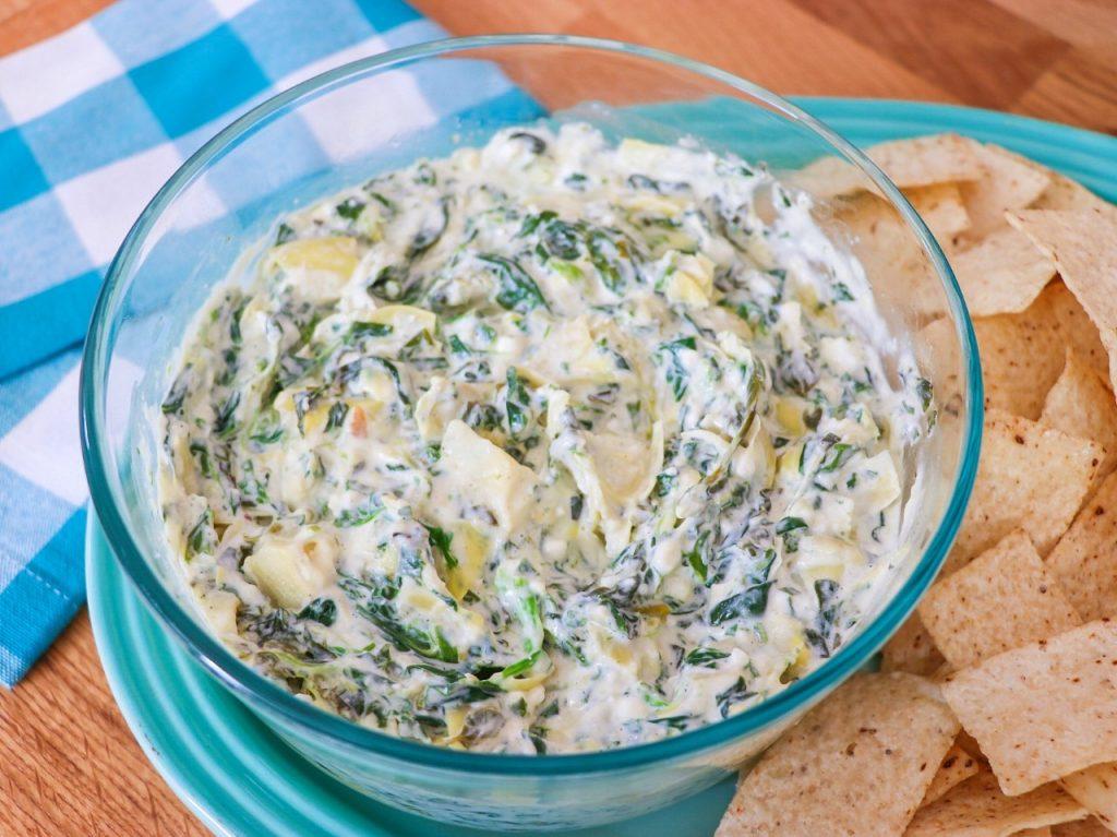 Pot-in-pot Instant Pot Feta, Spinach, and Artichoke Dip recipe