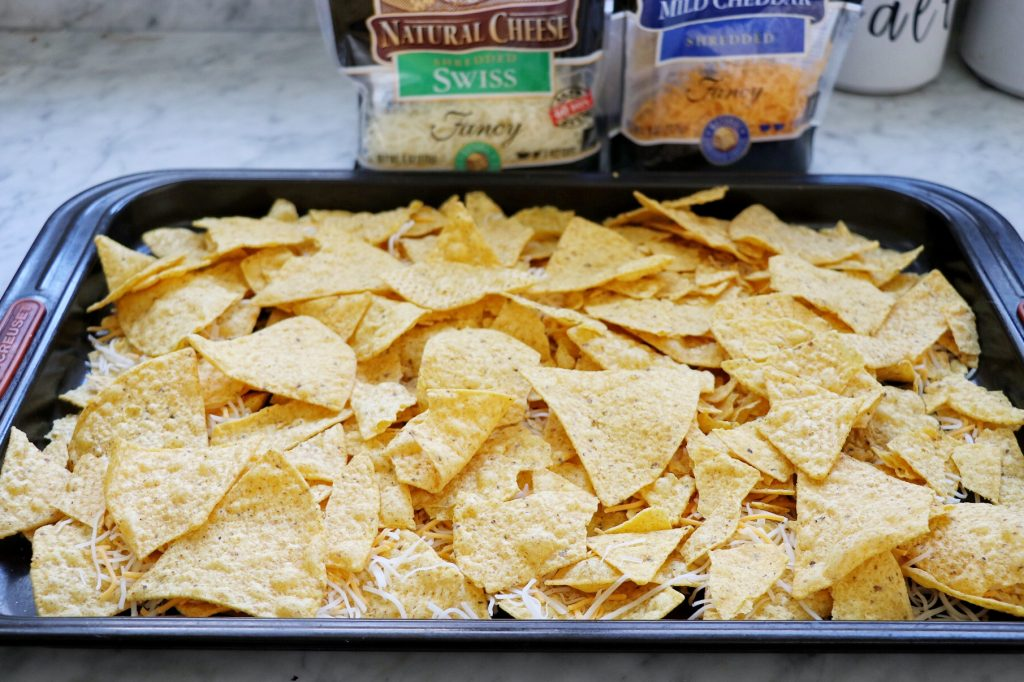 How to make Reuben Nachos for a St. Patrick's Day appetizer idea