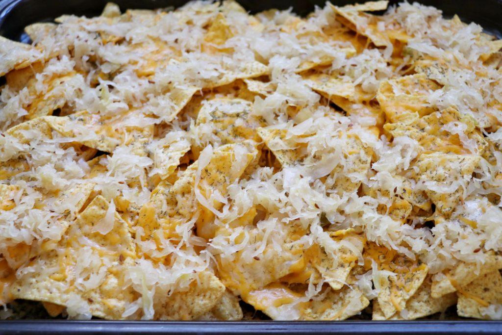 homemade reuben nachos recipe