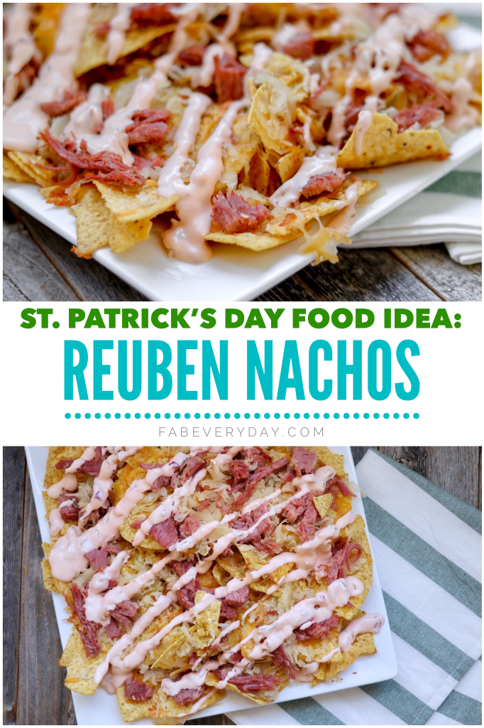Reuben Nachos (St. Patrick's Day appetizer or entree idea)