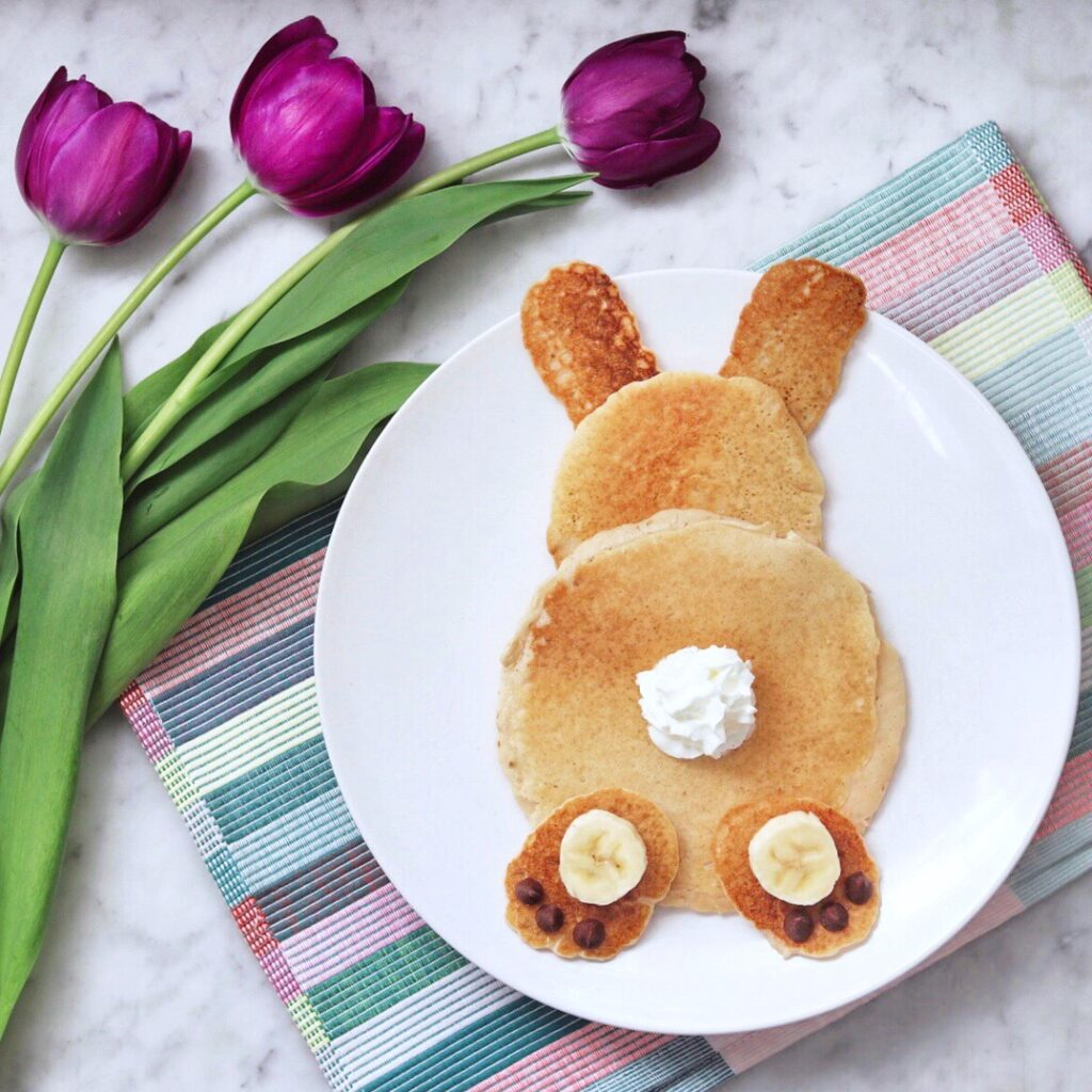 Bunny Butt Pancakes - Fun Bunny-Shaped Pancakes for Easter