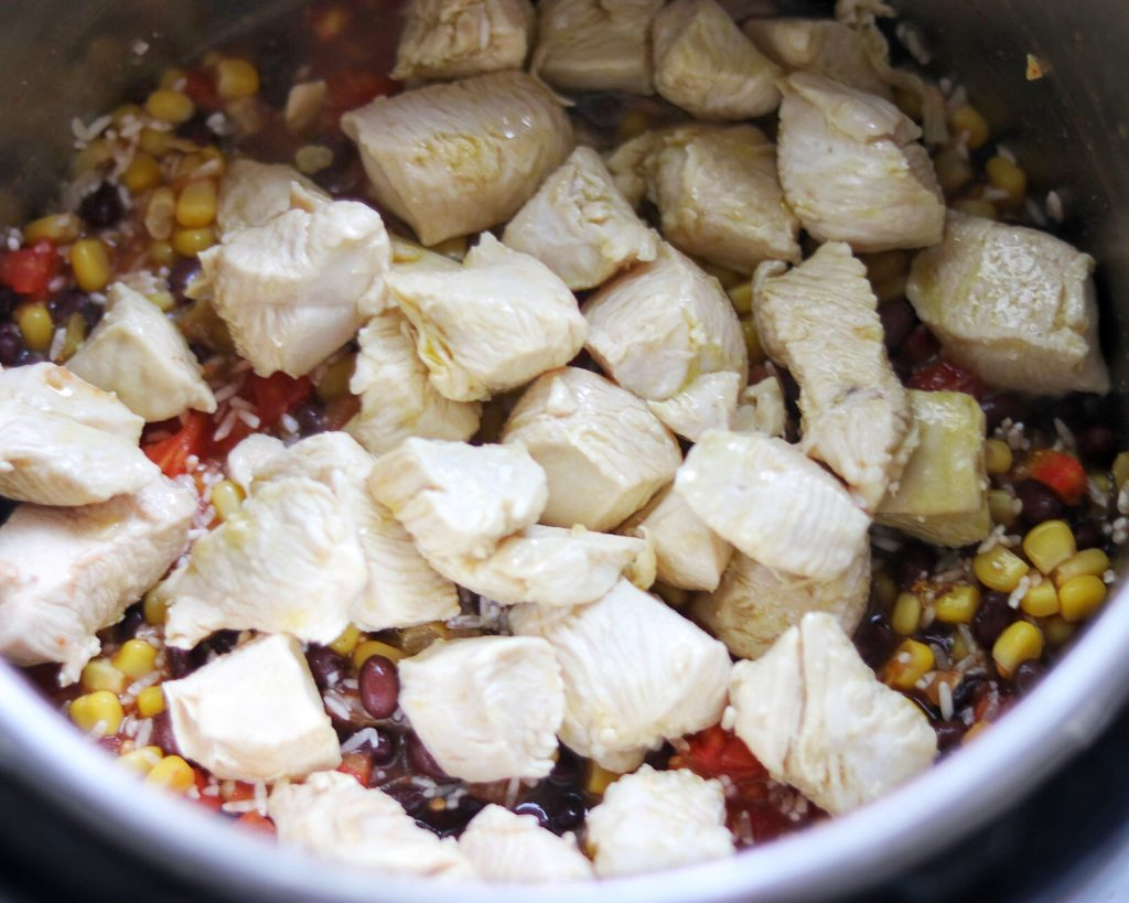 Instant Pot Chicken and Rice Burrito Bowls recipe
