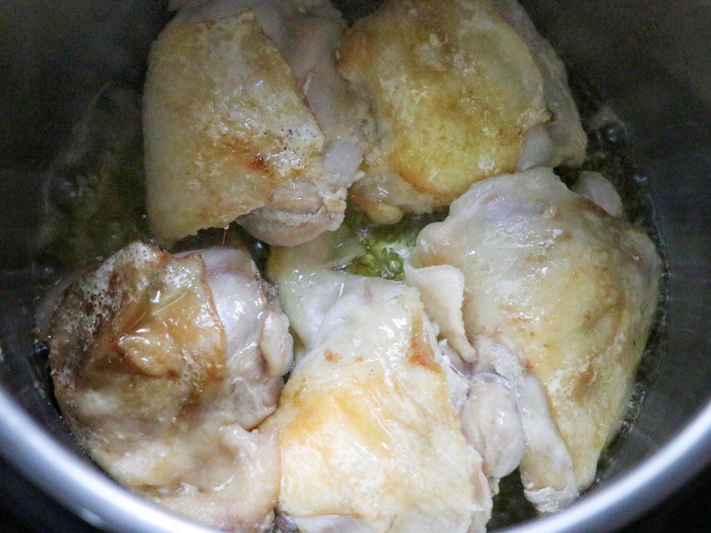 Instant Pot estofado de pollo recipe