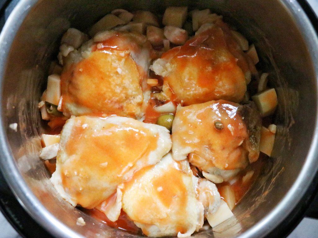 How to make pollo guisado instant pot