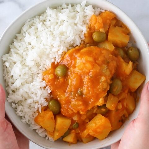 Instant Pot Pollo Guisado (Puerto Rican-style chicken stew)