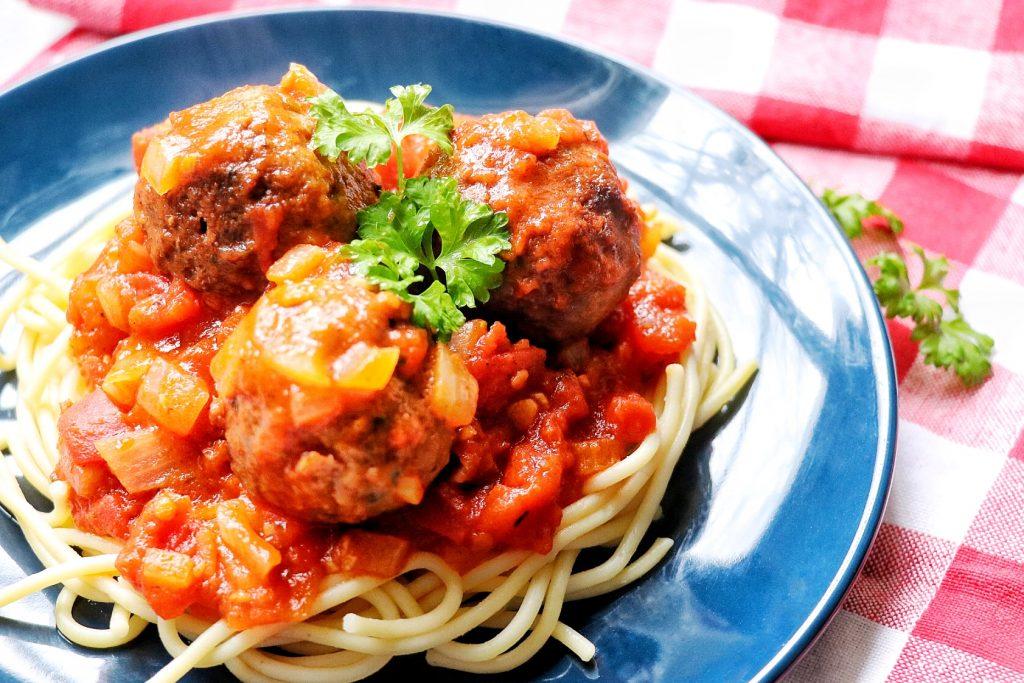 vegan spaghetti and beyond meatballs