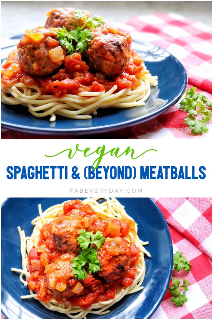 Vegan Spaghetti and Beyond Meatballs recipe