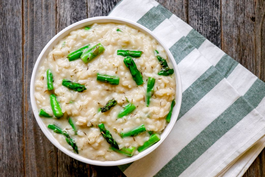 how to make instant pot asparagus risotto