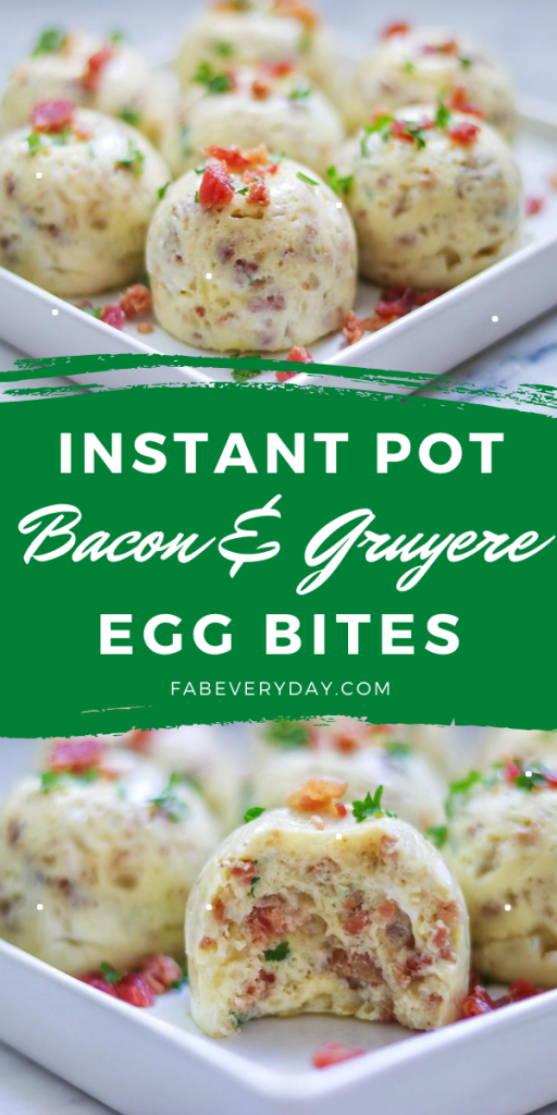 Bacon and Gruyere Instant Pot Egg Bites recipe