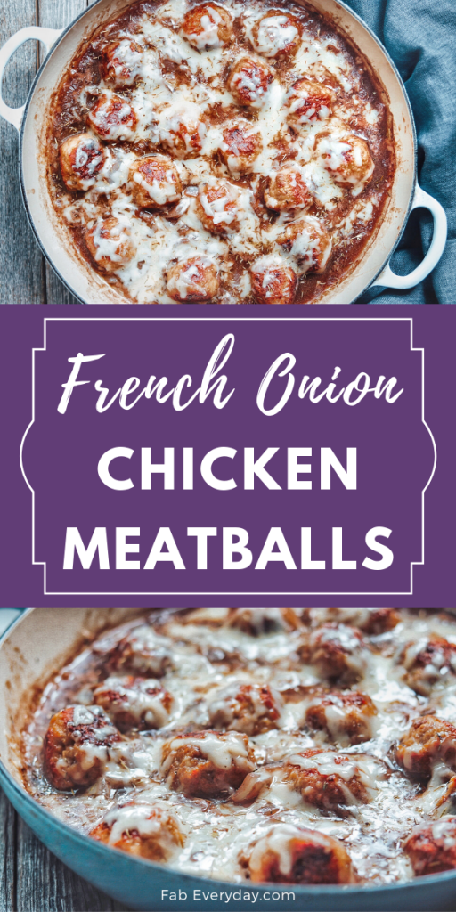 French Onion Chicken Meatballs recipe
