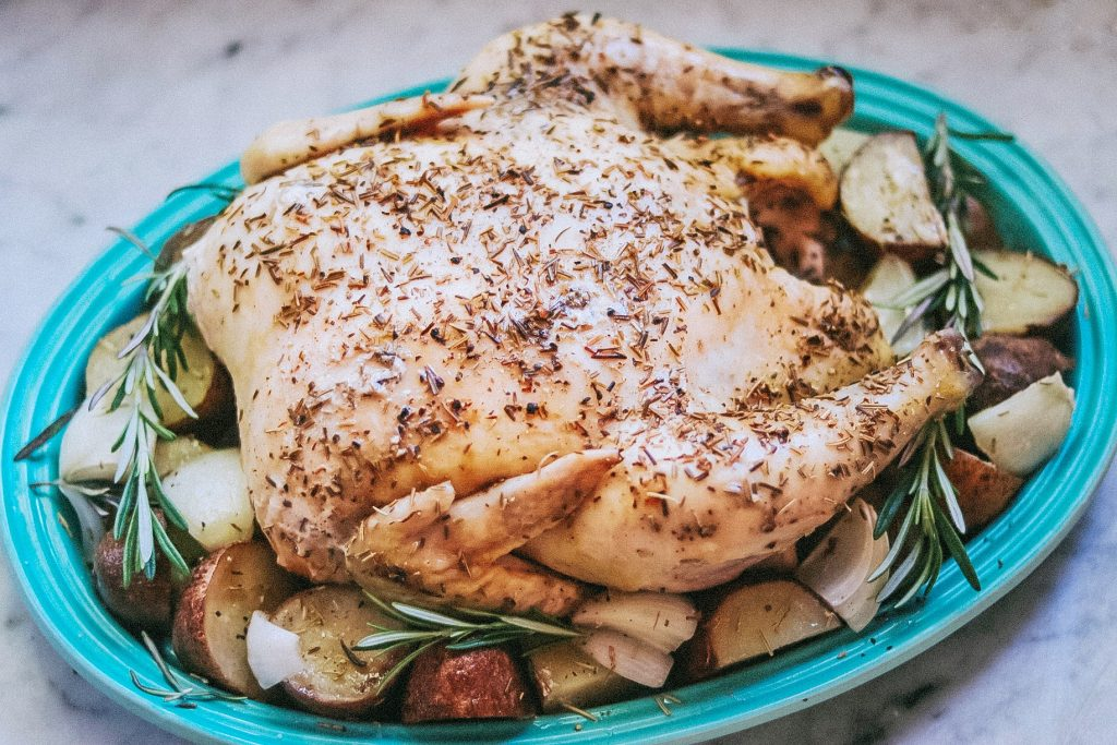 Garlic-Rosemary Slow Cooker Whole Chicken and Vegetables