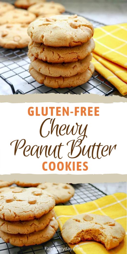 Gluten-Free Chewy Peanut Butter Cookies recipe
