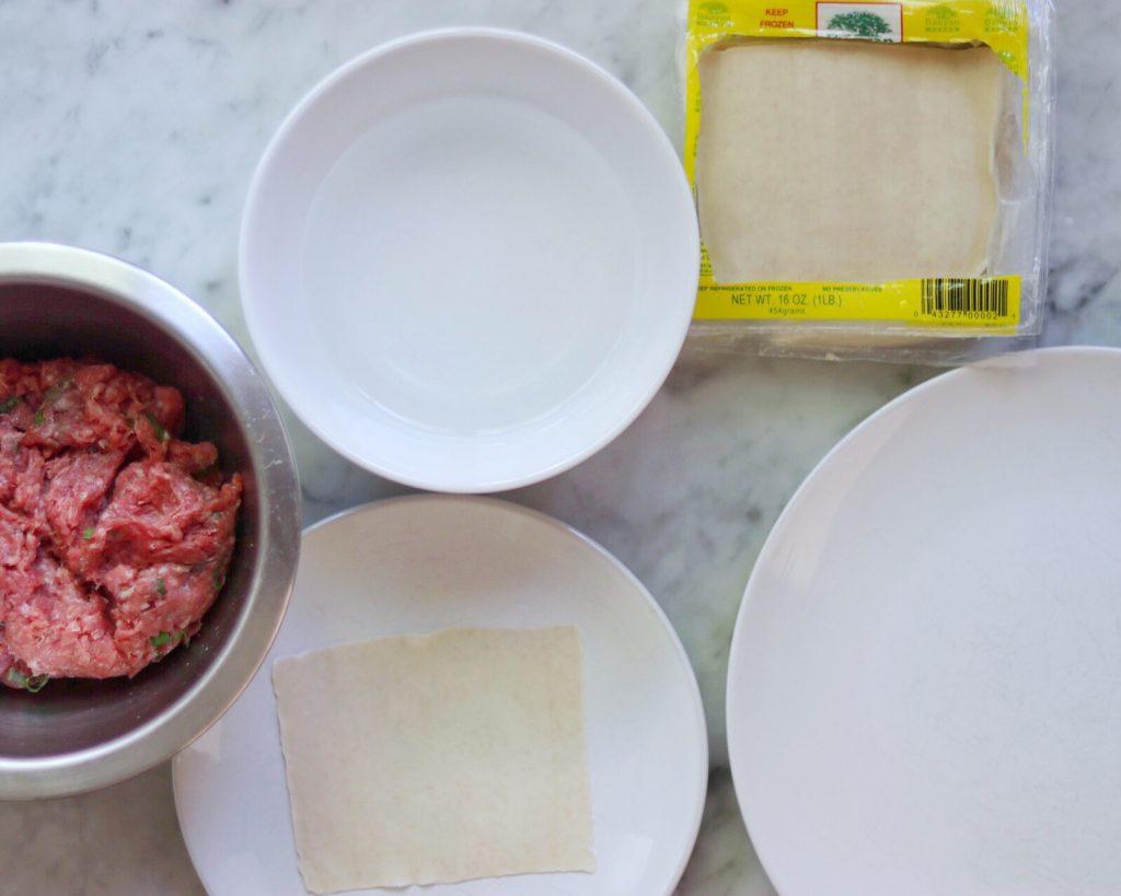 ground beef wontons recipe