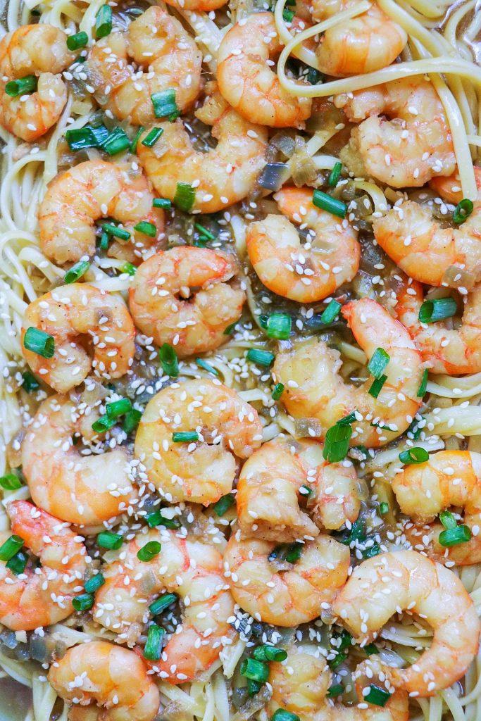 Asian-Style Instant Pot Shrimp Scampi