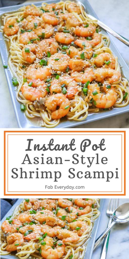 Asian-Style Instant Pot Shrimp Scampi recipe