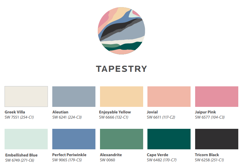 Color Trends 2021: Tapestry