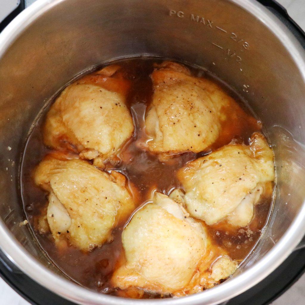 garlic sesame chicken made in the Instant Pot