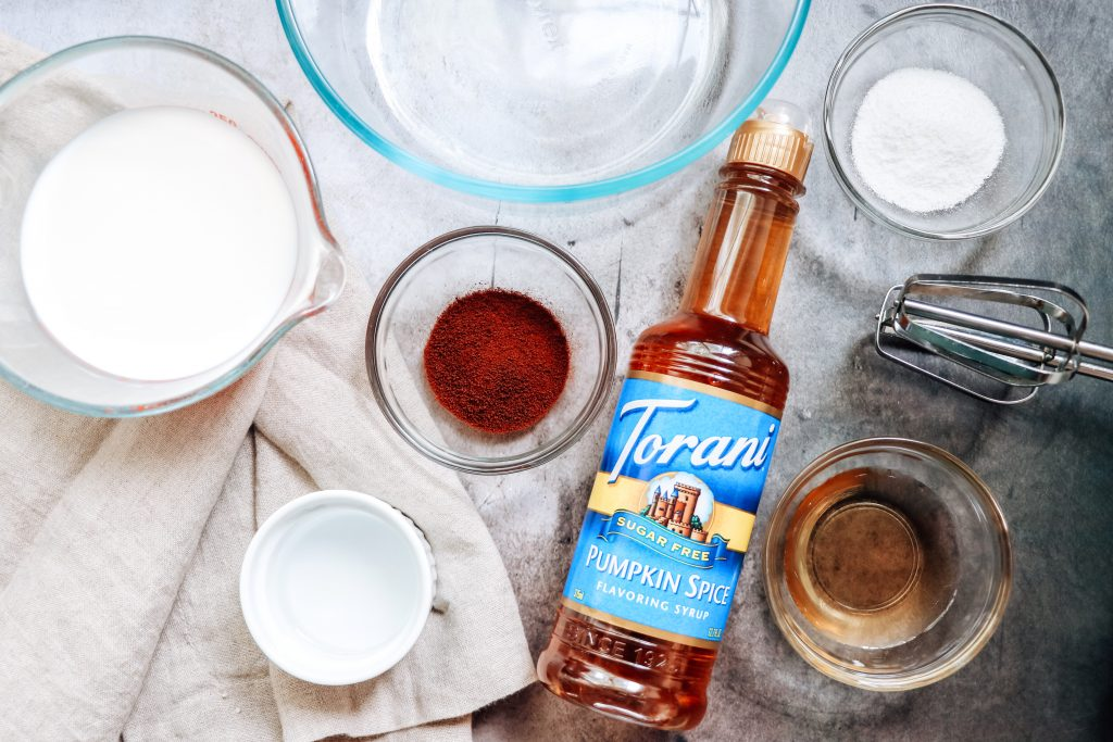 how to make pumpkin spice whipped coffee with sugar free pumpkin spice syrup