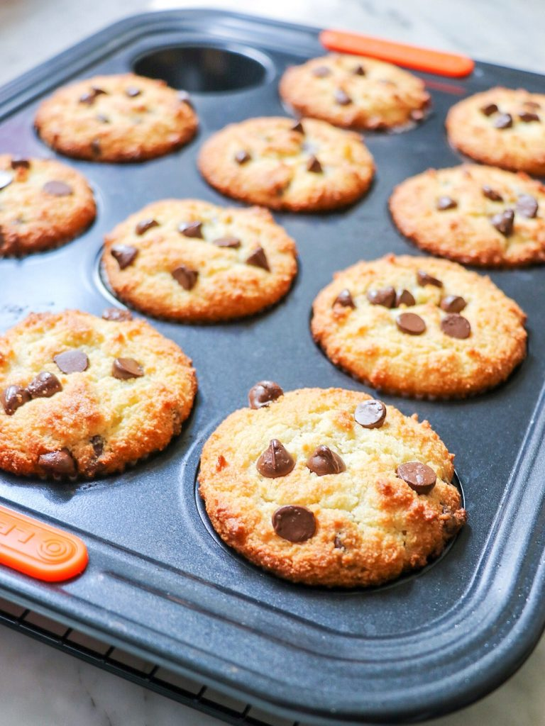 gluten-free muffin recipe made with almond flour and chocolate chips
