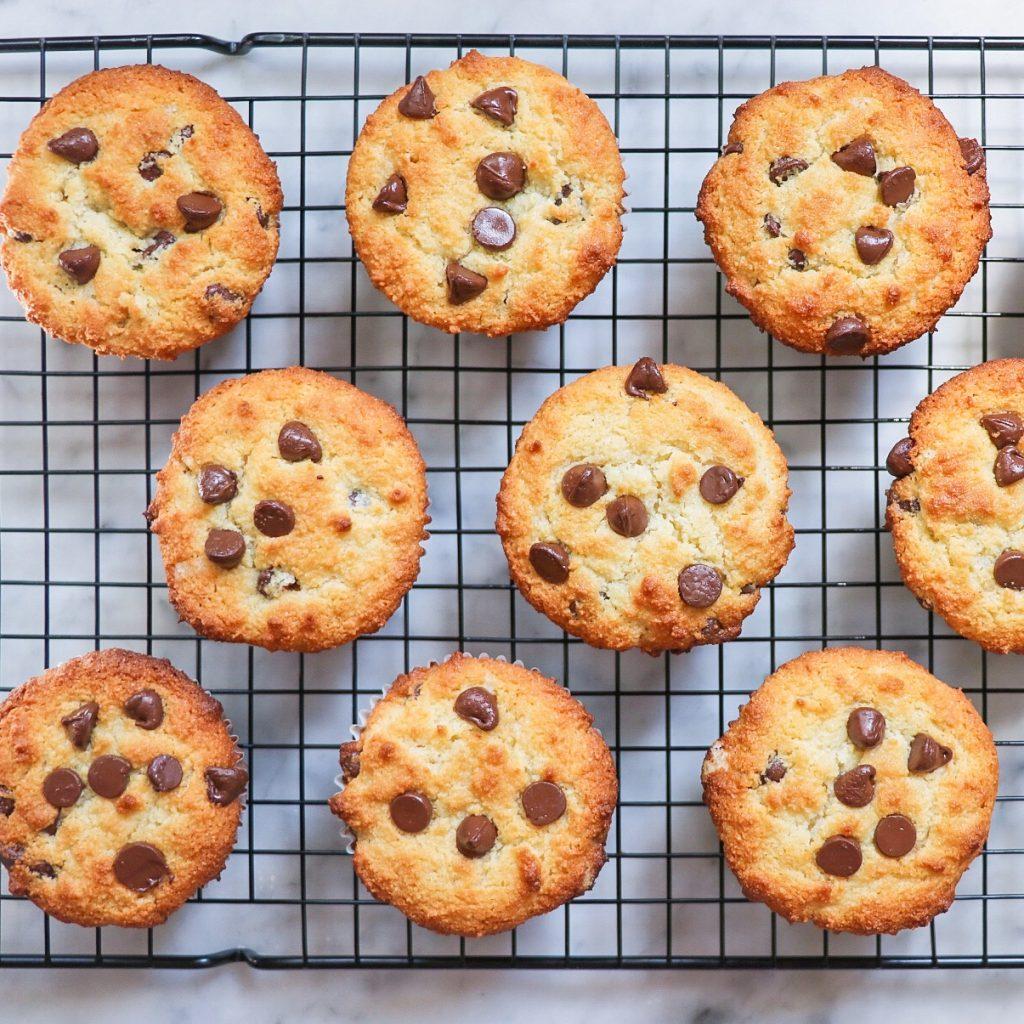 gluten-free chocolate chip muffins