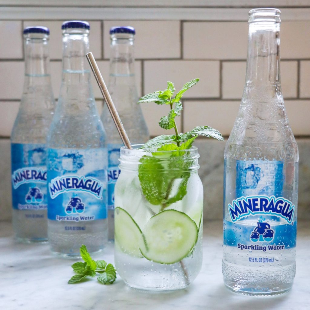 mocktails with sparkling water