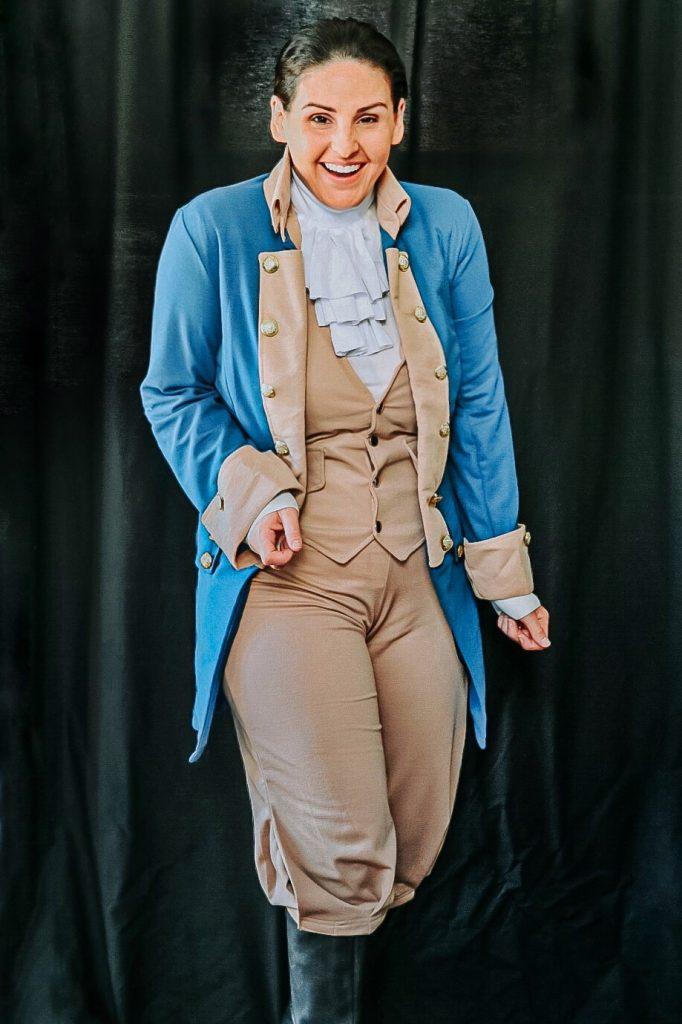 Women's Alexander Hamilton costume for Halloween