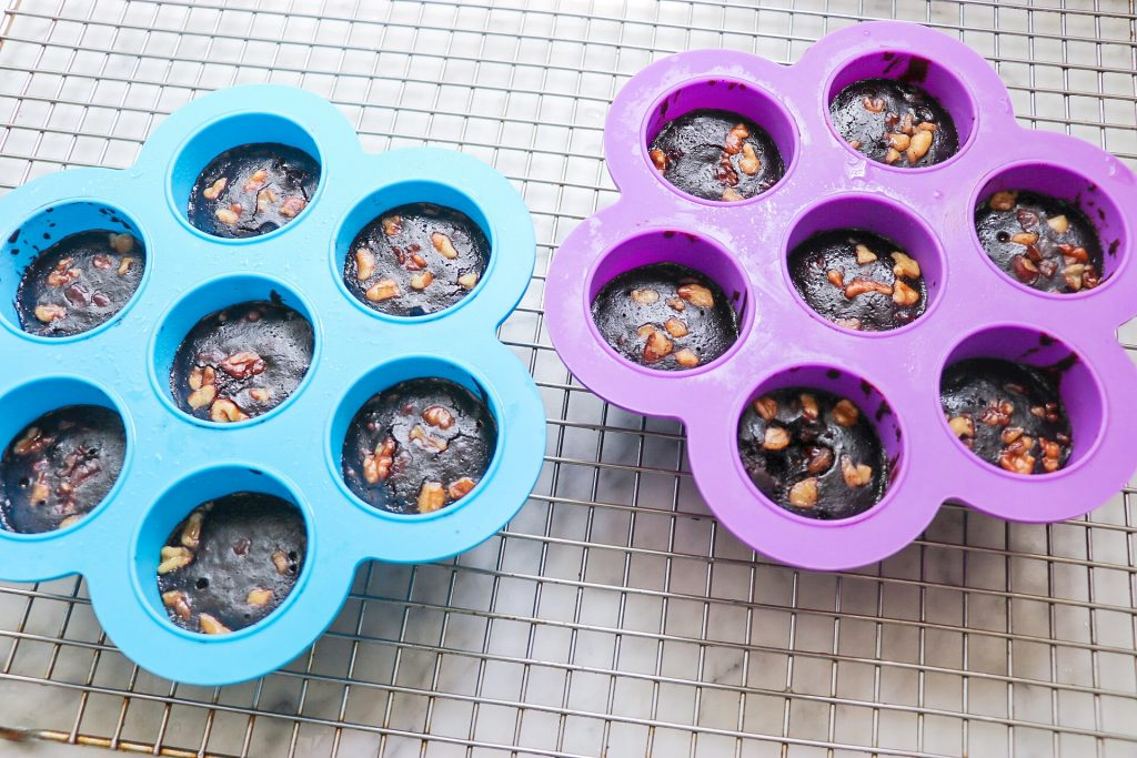 Instant Pot Brownie Bites made in silicone egg bites mold