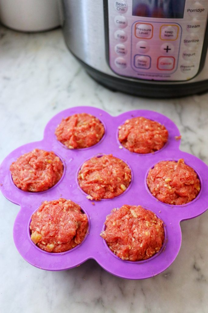 Instant Pot silicone mold recipes: Instant Pot mini meatloaf